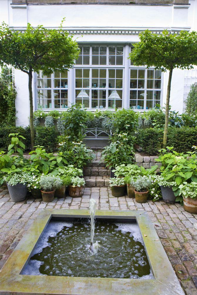water feature patio garden