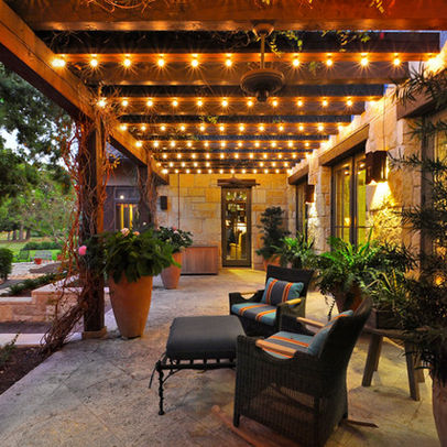 fairy lights patio