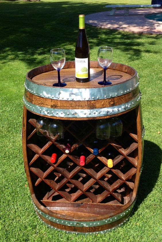 Wine Cellar made from a  wine barrel