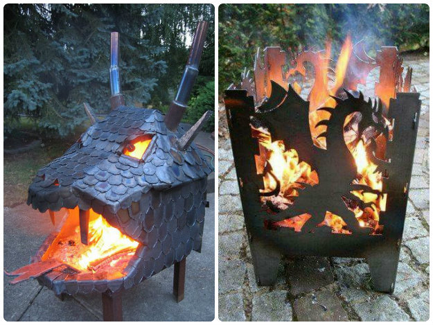 Dragon Shaped Fire Pits