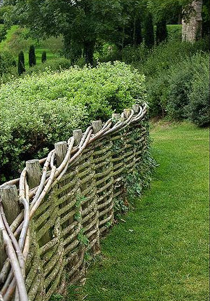 a weaved fence