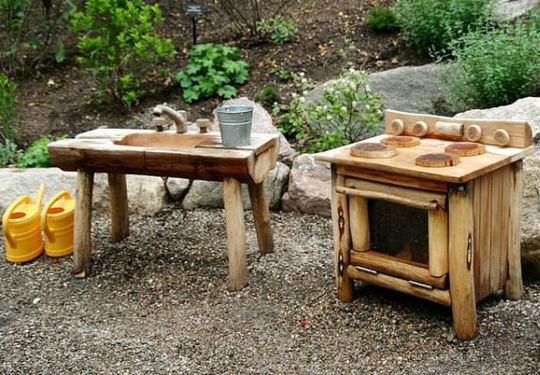 Mud Kitchen that looks like its from the flintstones