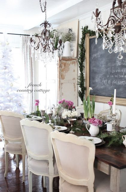 French Rustic Cottage Tablescape