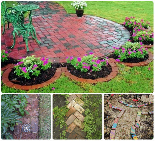 Brick edging designed in patterns and layouts
