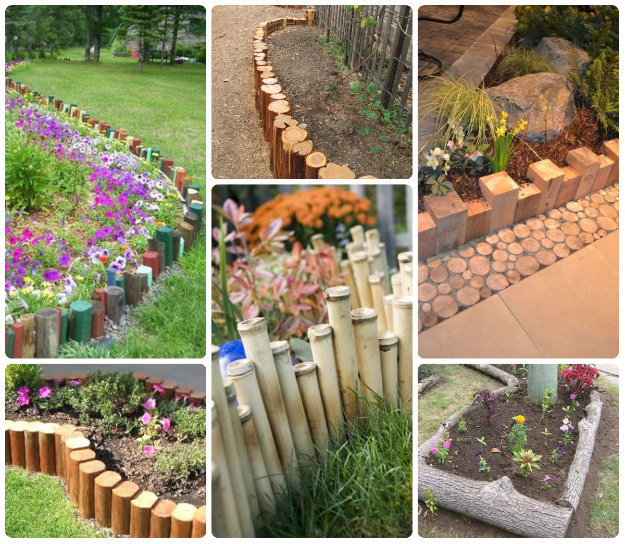 60 flower bed edging ideas for Wooden flower bed borders