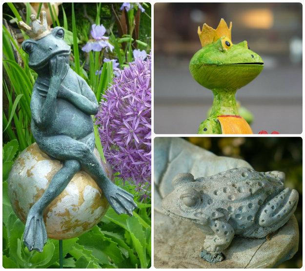 3 Frog garden statues - inspirational garden characters
