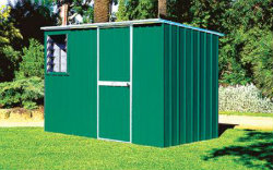 Medium Sized Full Height Metal Garden Shed