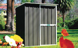 Small Metal Full Height Garden Shed