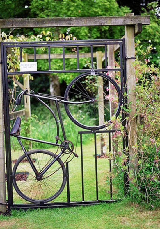 Recycled Bicycle Gate