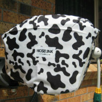Moo Cow Print Cover on Hoselink Retractable Reel