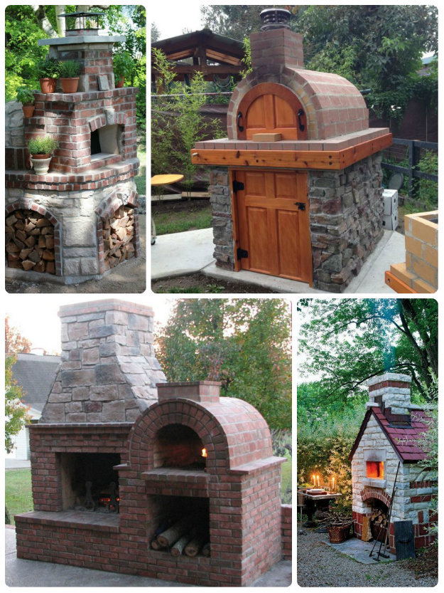 brick built pizza / stone bake oven