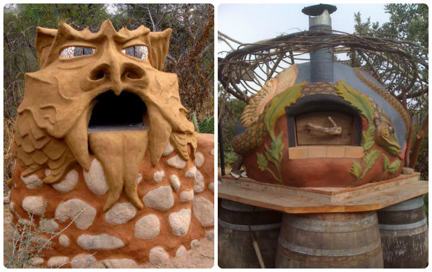 collage of dragon pizza / stone bake ovens
