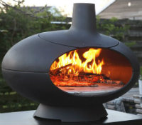 Simple plain black pizza / stone bake oven