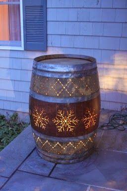 Wine Barrel Star Lantern