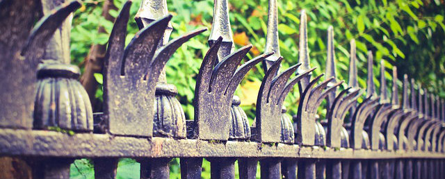 DIY Home Security Tips - Metal spiked fencing