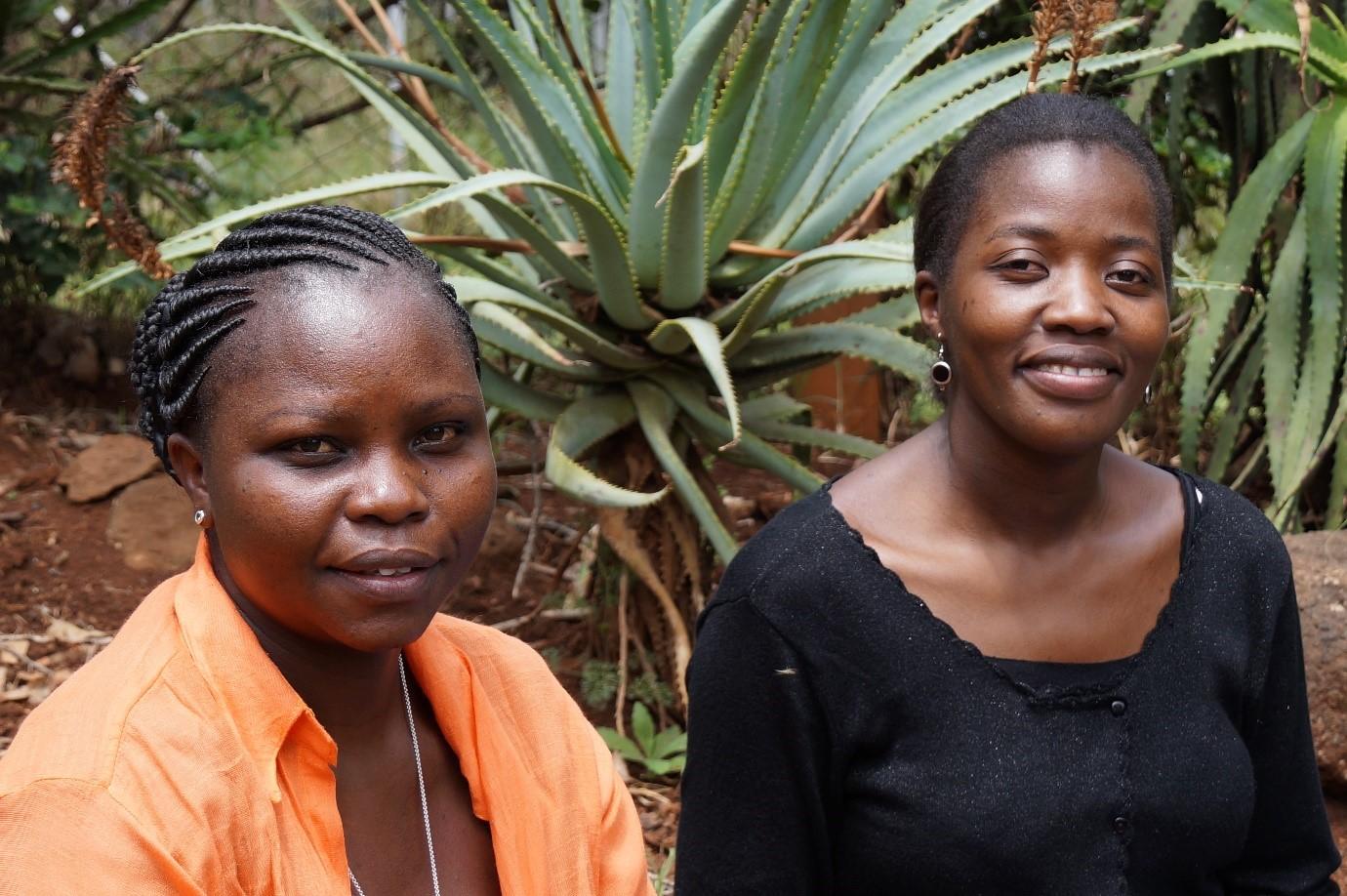 Dr Emily Wabuylele and Agnes Lusweti of Museum of Kenya's Nairobi Botanic Gardens