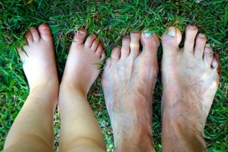 Feet in the garden - Ross Brown @ Your Life Photographer