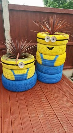 Minion tier pot plant ornaments to decorate your garden
