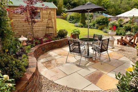 indian tone paving garden patio