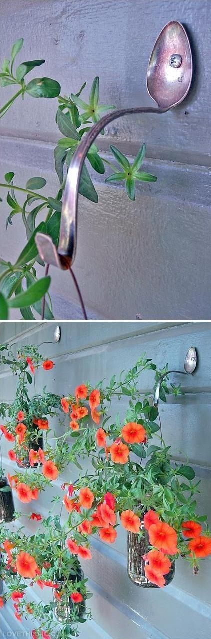 Cute spoon hanger ornaments to decorate your garden