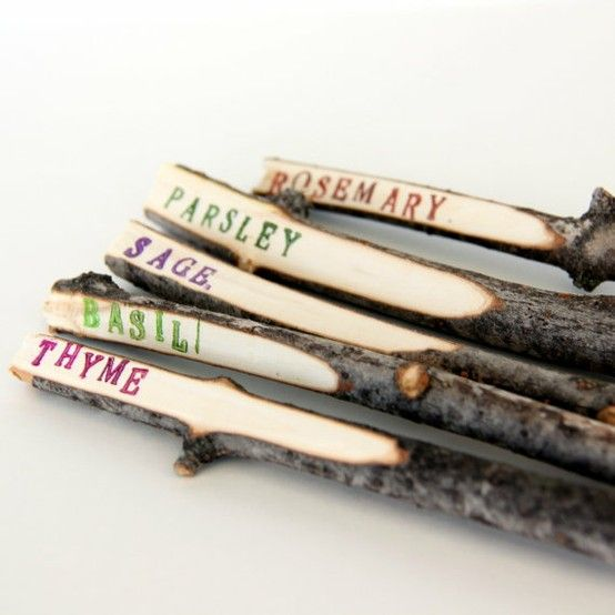 Twig Plant Makers to decorate your herb patch.
